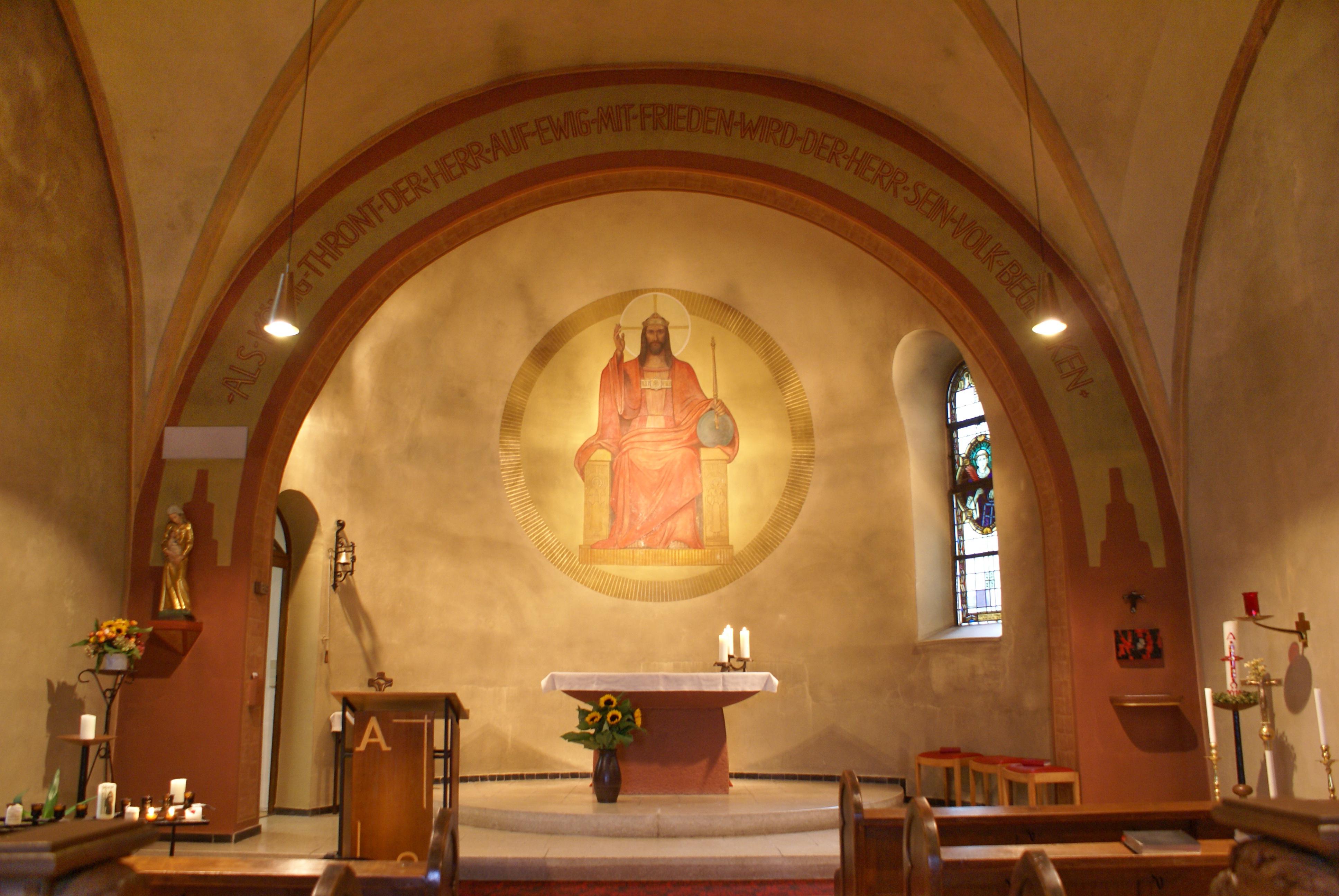 Katholische Kirche in Dorsheim, Chorraum mit Bild